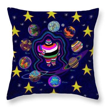 United Planets Of Eurotrazz Throw Pillow by Robert SORENSEN