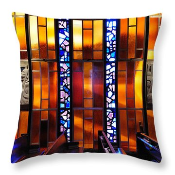 United States Air Force Academy Cadet Chapel Detail Throw Pillow by Vivian Christopher