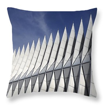 United States Airforce Academy Chapel Colorado Throw Pillow by Bob Christopher