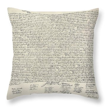 United States Bill Of Rights Throw Pillow