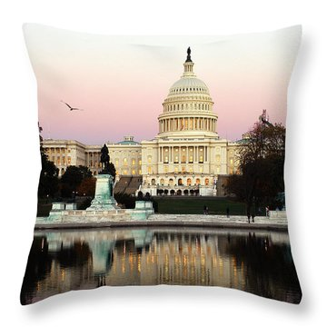 United States Capitol Washington Dc Throw Pillow by Yue Wang