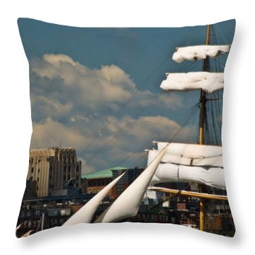 Throw Pillow featuring the photograph United States Coast Guard Cutter by Caroline Stella