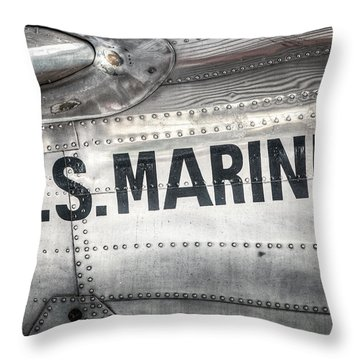 United States Marines - Beech C-45h Expeditor Throw Pillow by Gary Heller
