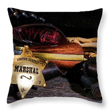 United States Marshall Shield  Throw Pillow