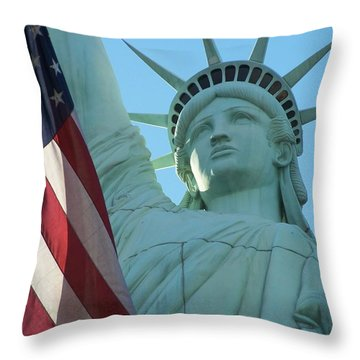 United States Of America Throw Pillow by Jewels Blake Hamrick
