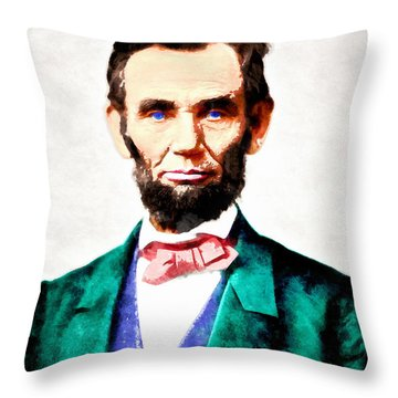 United States President Abraham Lincoln 20140914wc V2 Throw Pillow