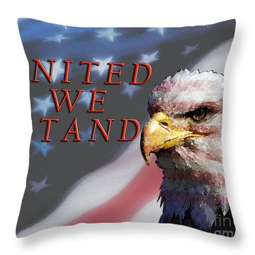 United We Stand Throw Pillow by Lawrence Costales