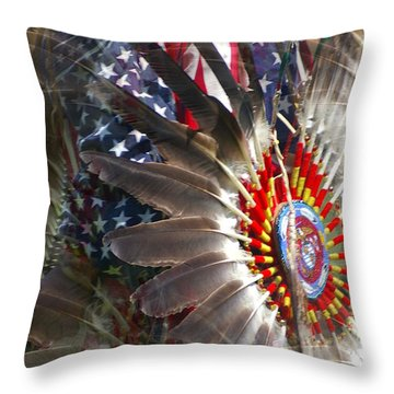 United We Stand Throw Pillow by Randy Pollard
