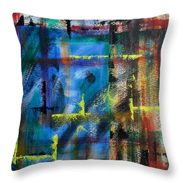 Blue Wall Throw Pillow