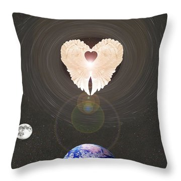 Throw Pillow featuring the photograph Universal Angel by Eric Kempson