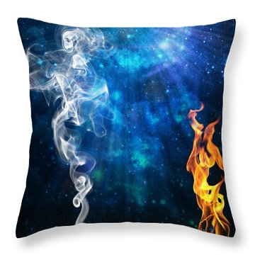 Universal Energies At War Throw Pillow by Leanne Seymour