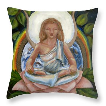 Universal Goddess Throw Pillow
