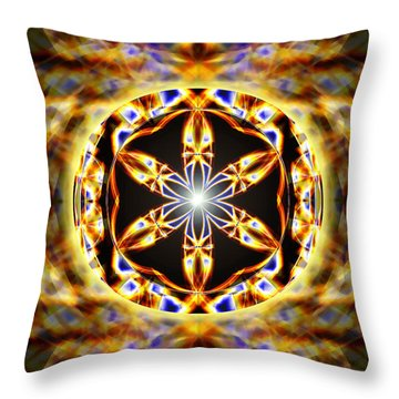 Throw Pillow featuring the drawing Universal Heart Fire by Derek Gedney