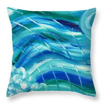 Universal Waves Throw Pillow