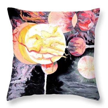 Universe Throw Pillow by Daniel Janda
