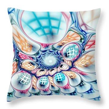 Universe In A Bag Throw Pillow by Anastasiya Malakhova