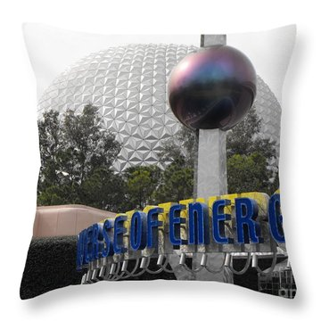 Universe Of Energy At Epcot Throw Pillow by Erick Schmidt