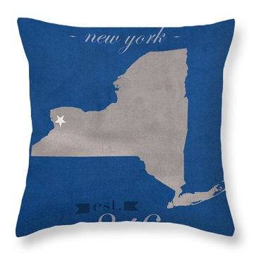 University At Buffalo New York Bulls College Town State Map Poster Series No 022 Throw Pillow by Design Turnpike