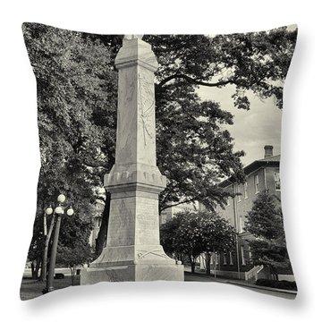 University Greys Black And White Throw Pillow