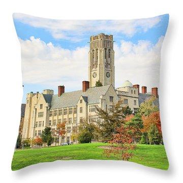 University Hall University Of Toledo 9206 Throw Pillow