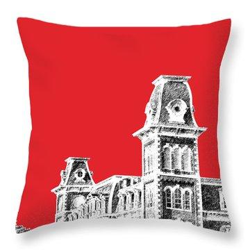 University Of Arkansas - Red Throw Pillow