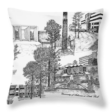 University Of Arkansas Throw Pillow by Liz  Bryant