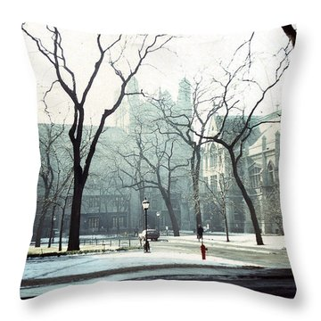 University Of Chicago 1976 Throw Pillow by Joseph Duba