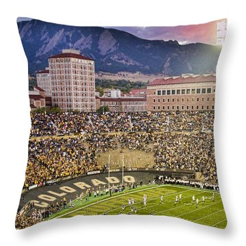 University Of Colorado Boulder Go Buffs Throw Pillow