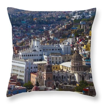 University Of Guanajuato Throw Pillow by Douglas J Fisher