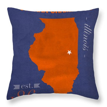 University Of Illinois Throw Pillows