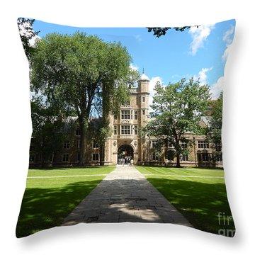University Of Michigan Law Quad Throw Pillow