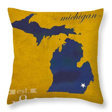 University Of Michigan Throw Pillows