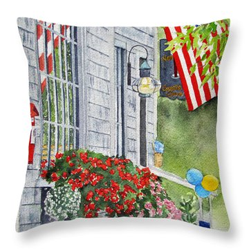 University Of Nantucket Shop Throw Pillow by Carol Flagg