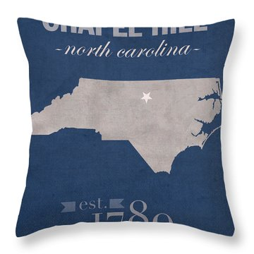 Unc Chapel Hill Throw Pillows
