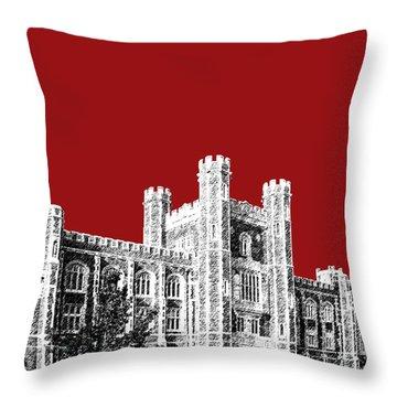 University Of Oklahoma - Dark Red Throw Pillow