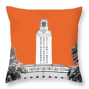 University Of Texas - Coral Throw Pillow