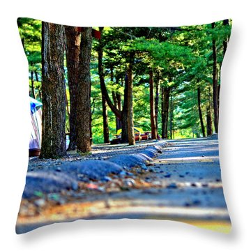 Throw Pillow featuring the photograph Unknown Destination by Tyson Kinnison