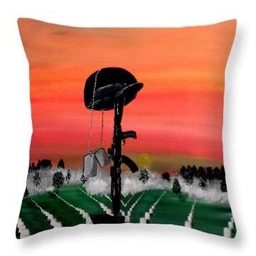 Unknown Hero Throw Pillow by Mark Moore