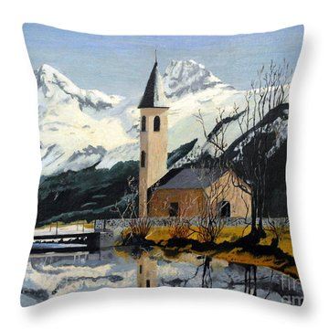 Unknown Place Of Worship Throw Pillow