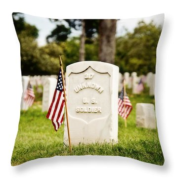 Unknown U.s. Soldier Throw Pillow by Scott Pellegrin