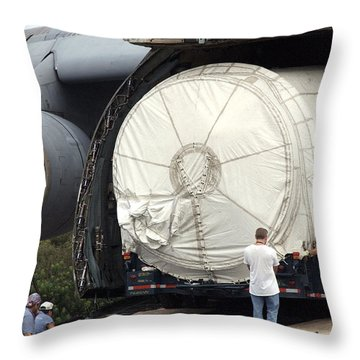 Throw Pillow featuring the photograph Unloading A Titan Ivb Rocket by Science Source