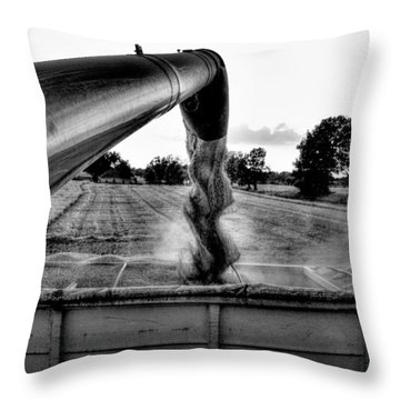 Unloading Throw Pillow