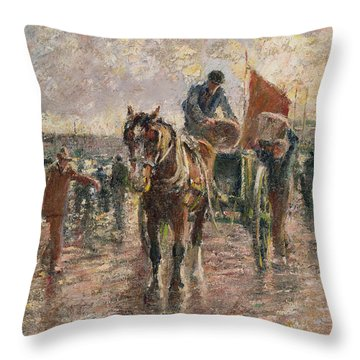 Unloading The Catch Throw Pillow