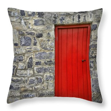 Unlock The Door Throw Pillow