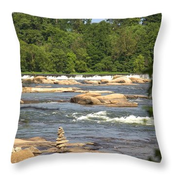 Unnatural Rock Formation Throw Pillow