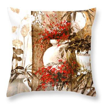 Uno Bianco Throw Pillow by Guido Borelli