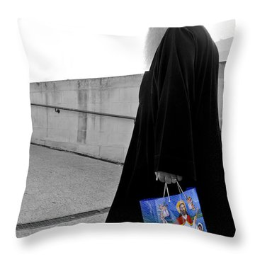 Unorthodox Shopping Bag Throw Pillow