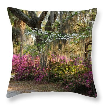 Throw Pillow featuring the photograph Unpaved Road In Spring by Bradford Martin