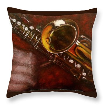 Unprotected Sax Throw Pillow