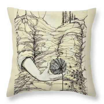 Unravel #1 Throw Pillow